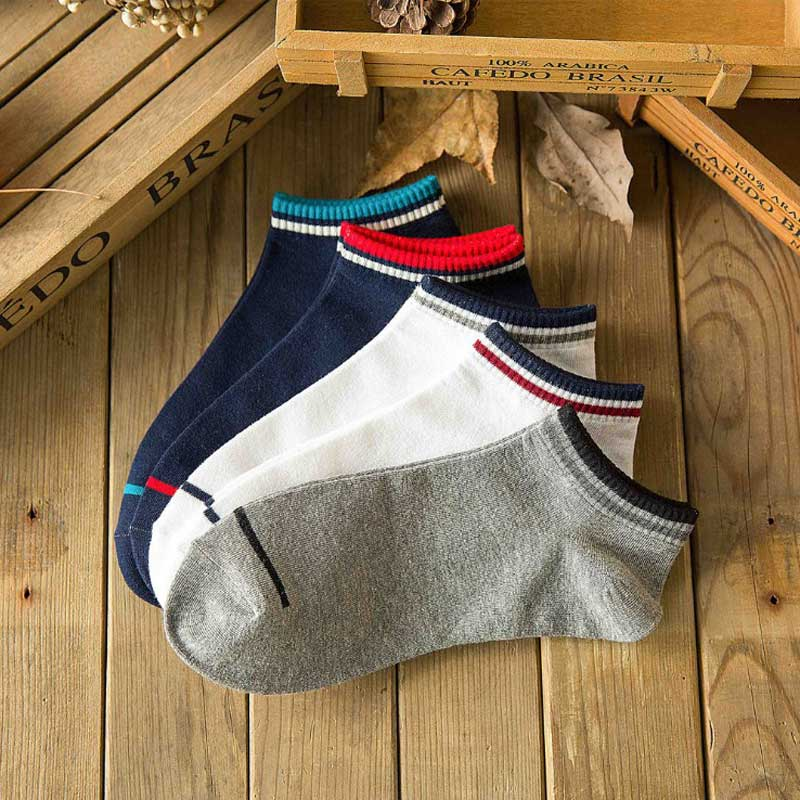1 Pairs Striped Cotton Ankle Socks 2018 New Summer Men Casual Deodorant Breathable Harajuku Business Short Sock Man Fashion Sock