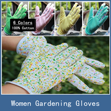 10 Pairs New 100% Cotton Antiskid Personal Workplace Safety Soft Jersey Women Gardening Working Gloves , 6 Colors Free Shipping