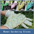 10 Pairs Novos 100% Algodão Antiderrapante Macio Jersey Mulheres Jardinagem Luvas de Trabalho de Segurança No Local de Pessoal, 6 Cores Frete Grátis
