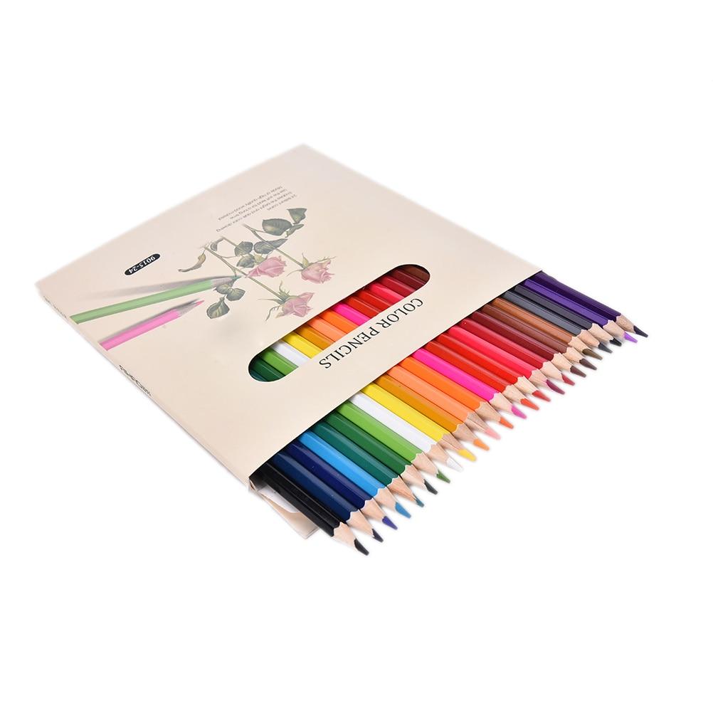 все цены на 24 Colors Colored Lapices De Colores Lapis Drawing Pencils Water-soluble Watercolor Pencils Colored Pencils
