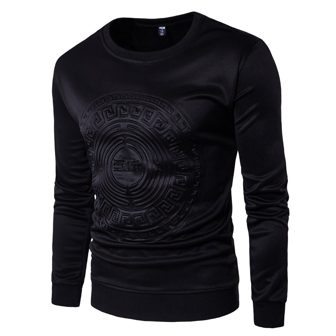 European Style Trend Personalized <font><b>Men's</b></font> Embossed Sweaters Set Of Space Overseas Fashion Long-sleeved <font><b>Shirts</b></font> XS-3XL image