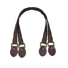2pcs Leather Bag Handles 60cm Brown Fabric Shoulder Strap Handbag Belt Durable Handle for Girls Accessories