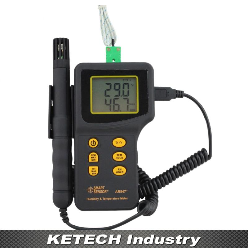 AR847 Humidity Temp Meter Temperature Meter Environment Tester ts001 pt100 20 300 2 temp sensor temp meter temperature thermometer for generator trimmer trailer stump grinders snowmobile
