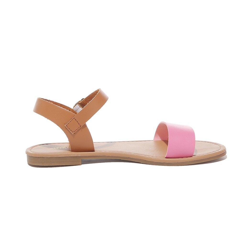 HTB1jj4tQpYqK1RjSZLeq6zXppXaE SAGACE Women's Sandals Solid Color PU Leather Sandals Women Fashion Style Flat Summer Women Shoes Women Shoes 2019 Sandals 41018
