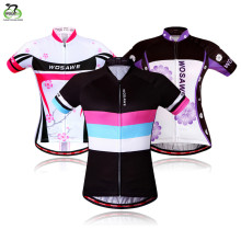 WOSAWE Cycling Jerseys Short Sleeve Sportwear Women Summer Shirts