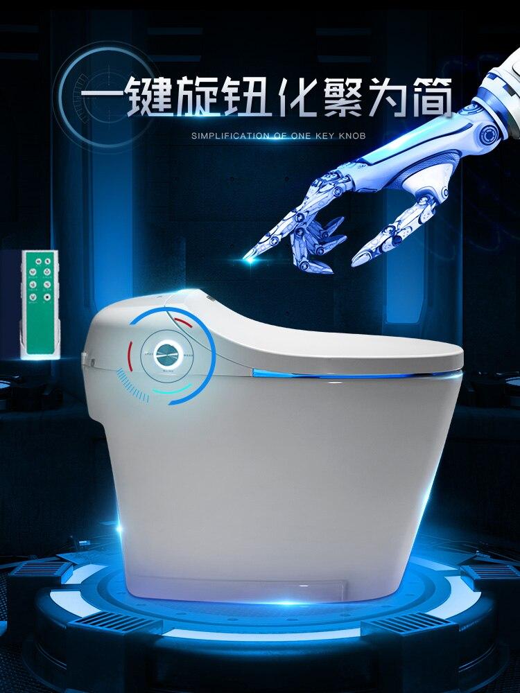 Praktisch Voll Automatische Intelligente Toilette Integrative Haushalt Inductor One Key Rotary Schlüssel Elektrische Wasser Tank Toilette