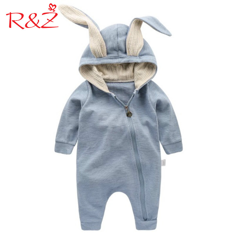 R&Z Baby Jumpers 2017 New Spring Autumn Cute Cartoon Zipper Rabbit Infant Girl Boy Jumpers Kids Baby Outfits Kids Clothes