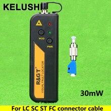 KELUSHI 30 мВт красный светильник мини Визуальный дефектоскоп тестер волоконно-оптического кабеля LC/FC/SC/ST адаптер волоконно-оптический кабель CATV