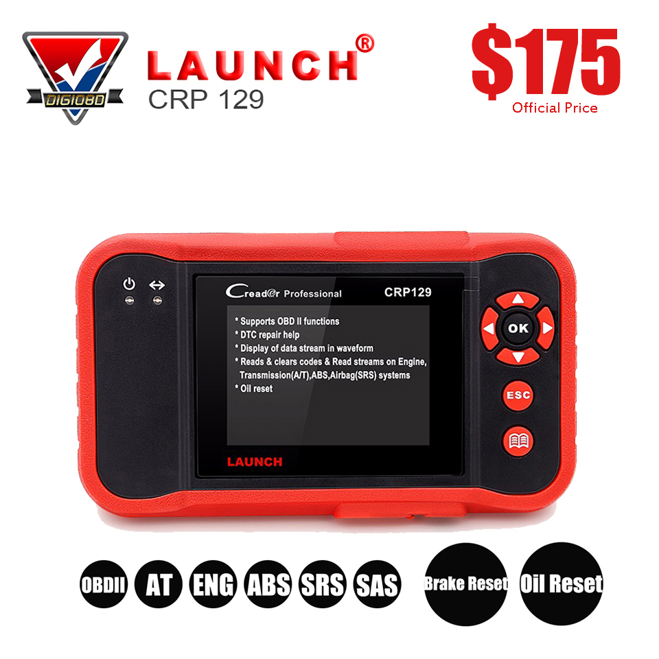 LAUNCH Creader CRP129 Car Code Reader OBD2 EOBD CAN Auto Scanner Diagnostic Tool Professional Universal for Engine/SRS/ABS/AT