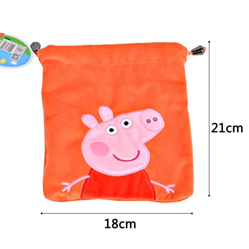 Origina Peppa Джордж свинка Дети Девочки Мальчики Kawaii Мини-сумочка с кулиской Сумочка Кошелек школьная сумка плюшевая игрушка мягкие и плюшевые куклы