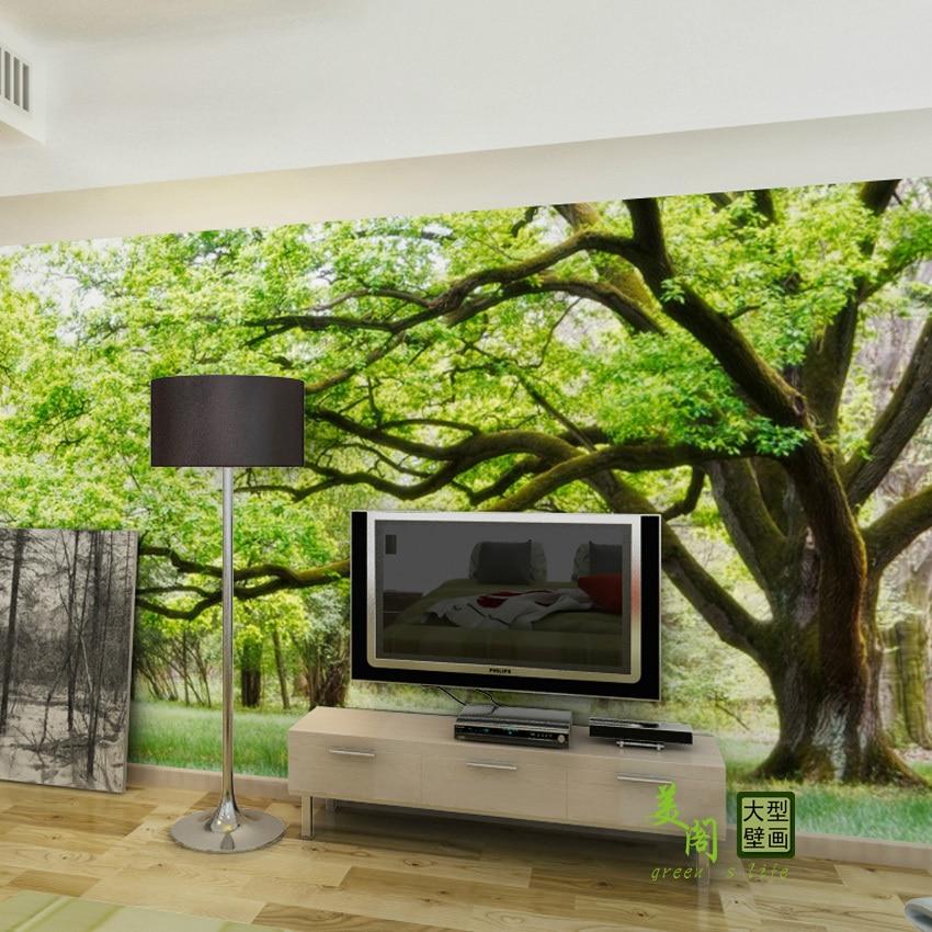 Custom Made Big Tree Photo 3d Wallpaper 3d Wall Murals For Living Room  Kidu0027s Room Sofa ... Part 98