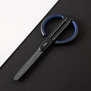 Image 5 - Youpin Fizz Schere Skala Mark Sicher Abgerundeten Cutter Kopf Fluor Beschichtung Prozess Büro Schreibwaren Schere in lager