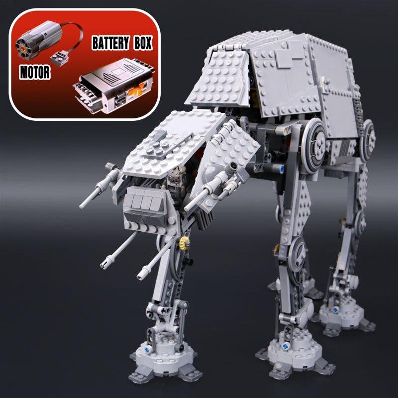 LEPIN Star Plan 05050 AT-AT моторизованный прогулочный робот Совместимость войны 10178 modelismo строительные блоки рождественские игрушки для детей