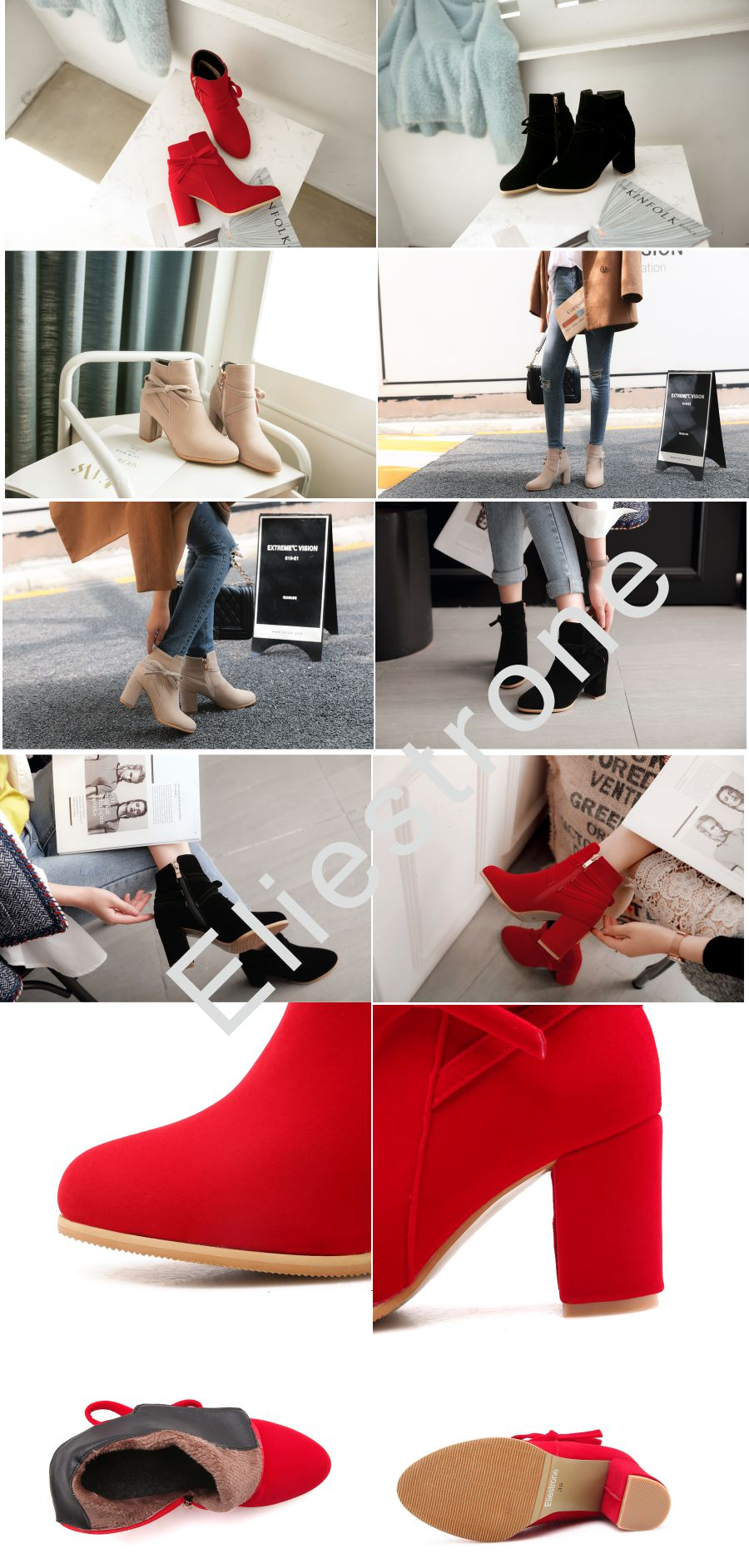 67f271da12a Detail Feedback Questions about Brand New Winter Beige Red Women ...