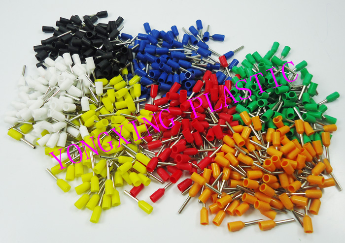 700PCS/ E0508 7 color insulated cord end terminal Bootlace cooper Ferrules kit set Wire Copper Crimp Connector Cord Pin End 1065pcs set 3 colors 22 12awg wire copper crimp connector insulated cord pin end terminal bootlace cooper ferrules kit set brass