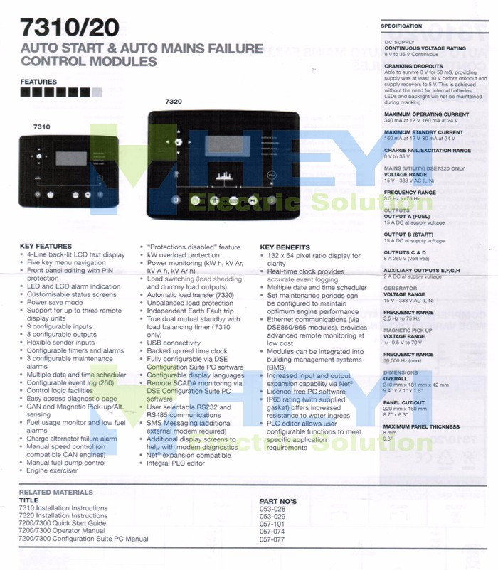 instruction 1 of generator controller