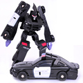1Pcs Black Police MiniFigures Transformations Building Block Toys Kids Gift Robot Car Series