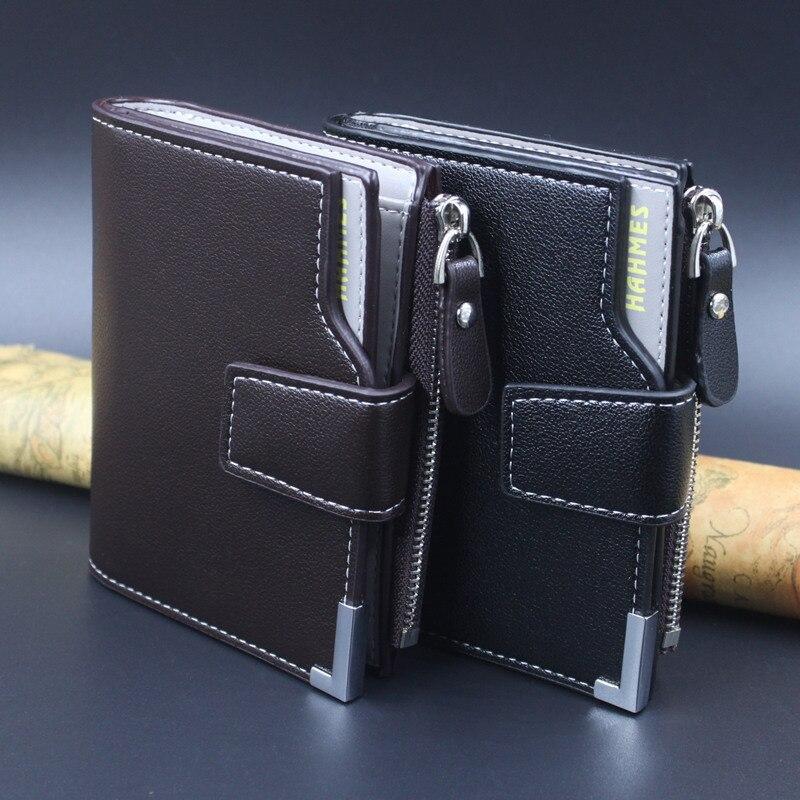 HOT män läder plånböcker män koppling läder dragkedja väska - Plånböcker - Foto 3