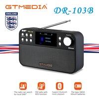 GTmedia DR 103B DAB Radio Receiver Portable Digital DAB FM Stereo Receptor With 2.4 Inch TFT Color Display Alarm Clock