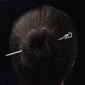 Image 5 - במבוק עלה שיער מקל נשים 925 סטרלינג כסף סיני סיכת ראש בעבודת יד אתני תכשיטי שיער סיכות בציר סין אוויר אקספרס