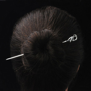 Image 5 - Bamboo Leaf Hair Stick Women 925 Sterling Silver Hairpin Chinese Handmade Ethnic Jewelry Hair Pins Vintage China Air Express