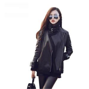 6ffc466d81bb1 SWYIVY Coat 2018 Autumn Leather Jacket Women Winter Female