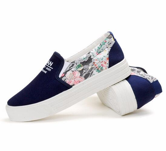 cc6e2b20fd Floral Canvas shoes hot sale fashion Appliques slipony women footwear  height increase girl female comfort slipon women shoe