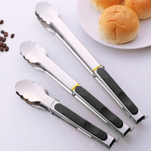 Kitchen Tools Stainless Steel Anti-scalding Bread Food Clip Barbecue Tongs BBQ Grilling Bbq Grill Accessories.Q