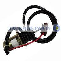 12V Fuel Shut Off Solenoid AM124377 for John Deere Skid Steer Loader 375 655 755 855 856 955 3375 4475