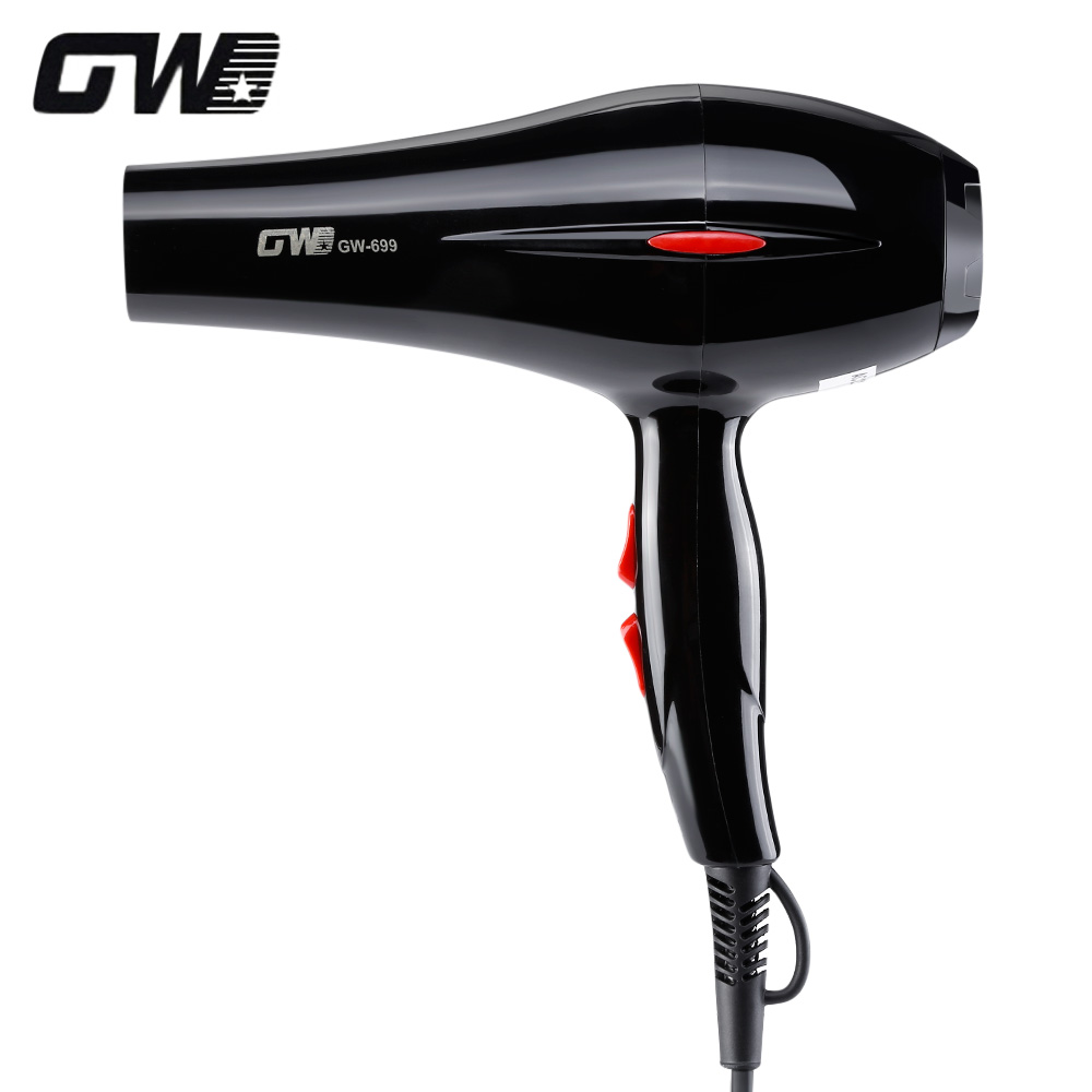 цена на GUOWEI GW - 699 Mini professional Hair Dryer 2000W Collecting Nozzle 220V EU Plug Foldable Travel Household Electric Hair Blower