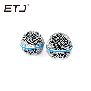 Image 3 - Freeshipping 6pcs/lot Professional Replacement Ball Head Mesh Microphone Grille Fits For shure sm 58 sm 58sk beta 58 beta58a