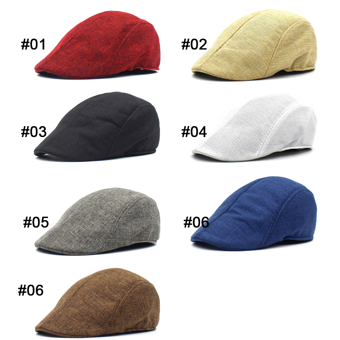 Summer Beret Caps for Men Women Vintage news boy cap Linen Outdoor Hats Brand Sun Hat Unisex Duckbill Caps sports cap in Men 39 s Berets from Apparel Accessories