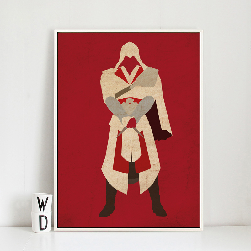 Bianche Wall Simplicity Assassins Creed Game Character Arno Canvas Painting Art Print Poster Picture Wall Painting Wall Decor