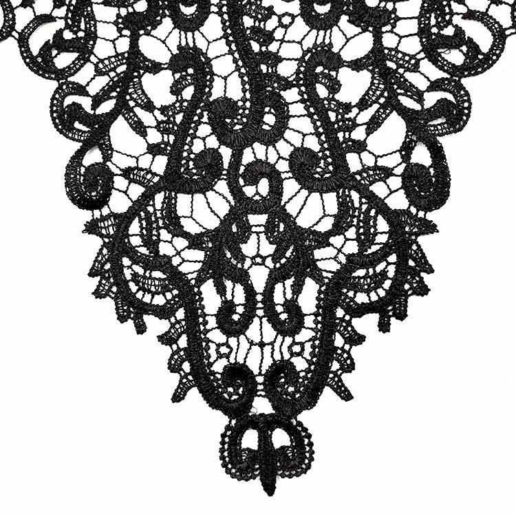 3D полые вышитые кружева декольте DIY воротник отделка одежды кружева патч ручной работы кружевной воротник украшение шитье ремесло поставки