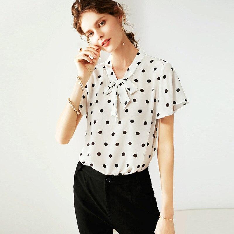 Das 2019 Mulheres Novas Roupas Ol de Colarinho Em Pé de Vento Cor Sólida Camisa De Seda Das Mulheres de Manga Longa Top Cardigan Blusa camisas das mulheres - 3