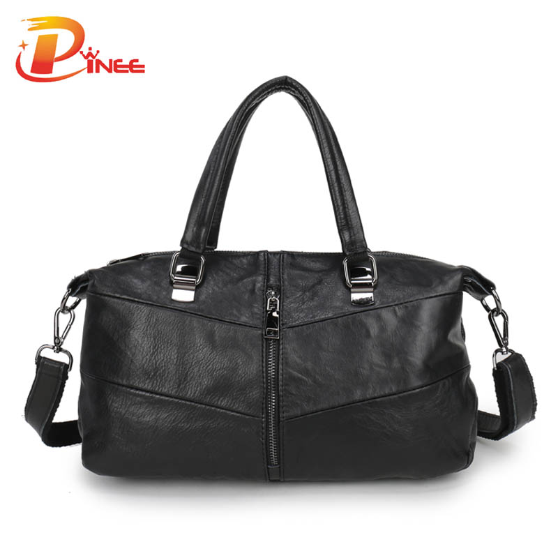 ФОТО 2016 Genuine Leather Bag Women Shoulder Bag Famous Brand Handbags Designer Pinee Fashion Bags