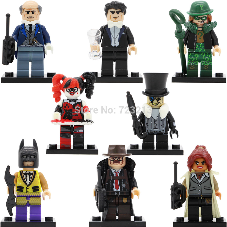 DC Batman Bruce Wayne Single sale Alfred Barbara Gordon Harley Quinn Super Hero Building Blocks Set Model Toys Figure single sale pirate suit batman bruce wayne classic tv batcave super heroes minifigures model building blocks kids toys gifts
