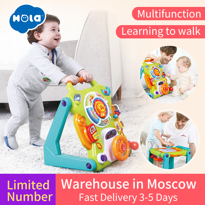 HUILE TOYS 2107 New Learning Walker For Kids 9 Month Up Musical Toys Baby Walker Stroller activity wheel baby walker safety musical and flashing light baby walker cheap kids walker hot sale walkers