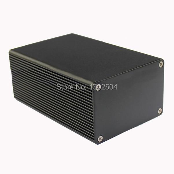 Aluminum Enclosure pcb project box black 43*66*100mm DIY electronics enclosure djdr2 aluminum electrolytic capacitor for diy project black 100 pcs