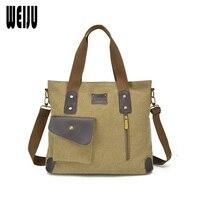 WEIJU New Canvas Men Bag Handbags Men S Messenger Bags 2017 Large Capacity Man Handbag Shoulder