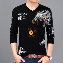 2017 New Men Sweater Pullover Mens Sweater Clothing Casual Slim Fit Pullover Round Neck Sweater M-3XL