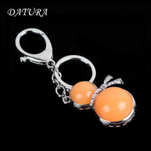4colors  Fashion rhinestone  cut gourd  pendant quality chic Car key chain ring holder Jewelry  for women.