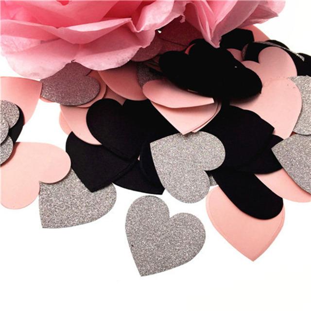 Glittery Paper Confetti 100 pcs Set