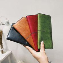 2019 Vintage Wallet For Women Phone Pocket Clutch Bag Leather Wallet Card Holder Long Ladies Purse Portefeuille Coin Pocket