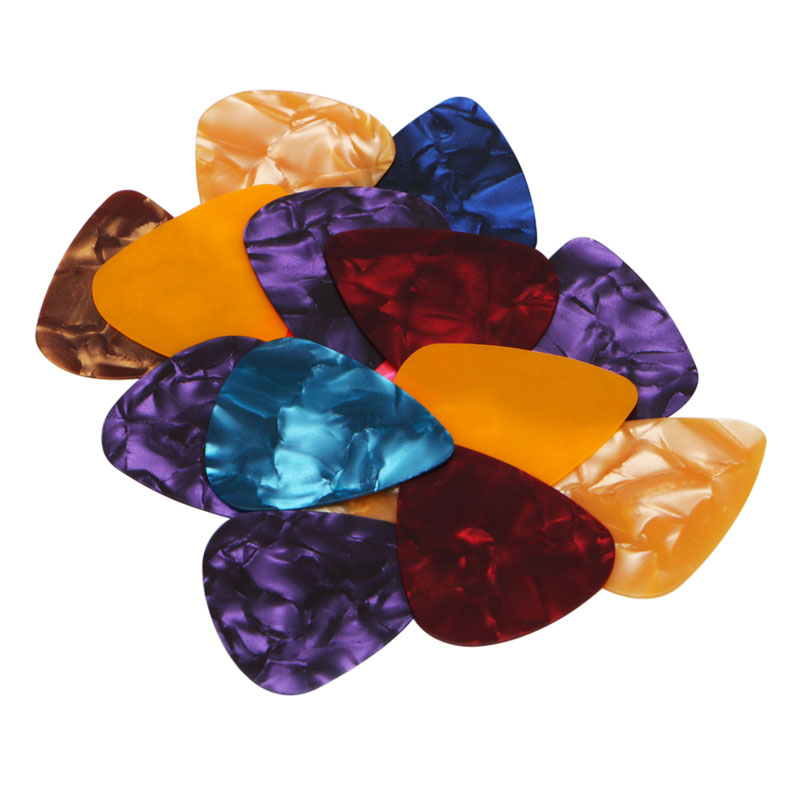 15Pcs Acoustic Electric Guitar Celluloid Picks Plectrum Plectra Various 0.46mm