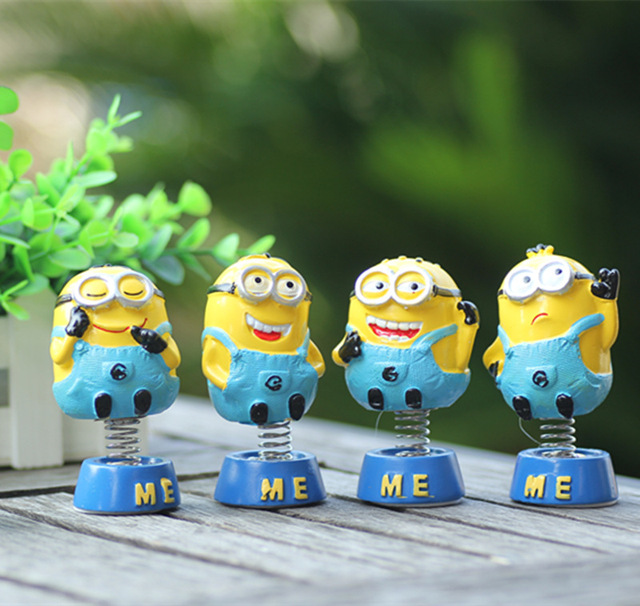 Despicable Me minions car decorate toy handmake resin minions toys doll  two eyes 3D cartoon wholesale