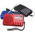 Portable Mini FM Radio With Speaker Rechargeable Digital LED Flashlight Micro USB TF/SD Card MP3 Music Player