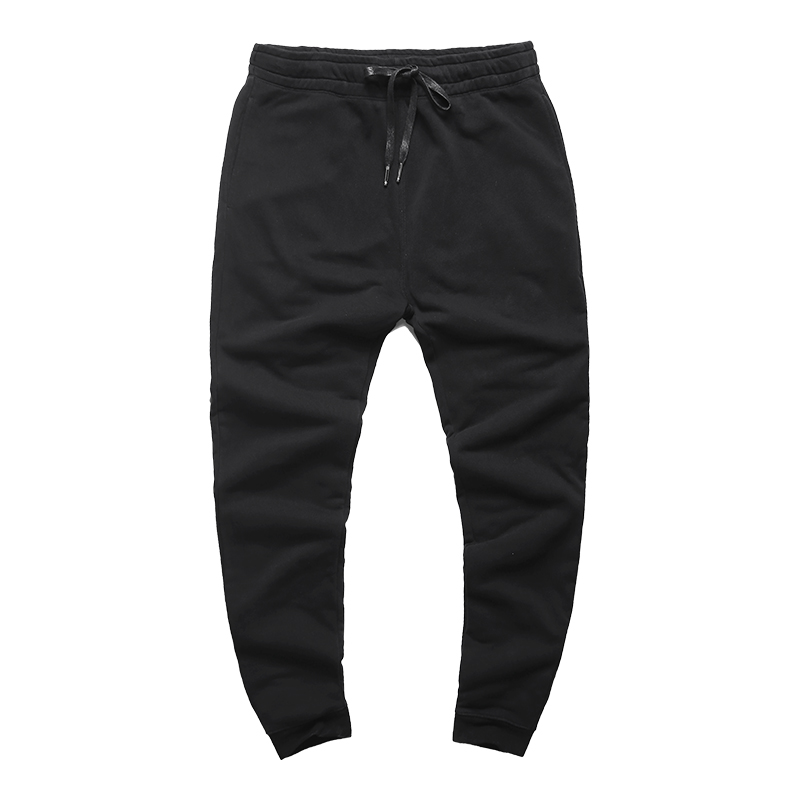 2017 Men autumn slim elasticed black high quality joggers long pants men cotton casual new hot