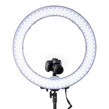 RL-18 55W 5500K 240 LED Photographic Lighting Dimmable Camera Photo/Studio/Phone Photography Ring Light Lamp Tripod Stand