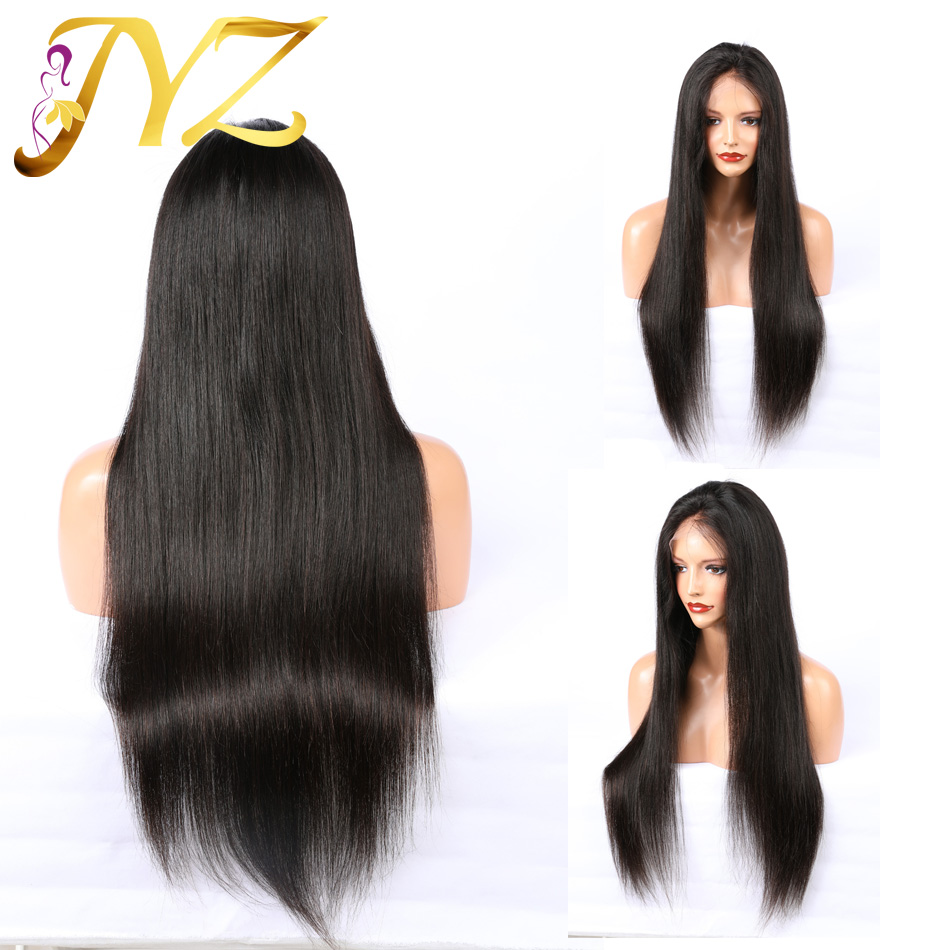 Buy 1 Send 1 150% Density 360 Lace Frontal Wig Pre Plucked Baby Hair Straight Brazilian Lace Frontal Human Hair Wig Remy Hair